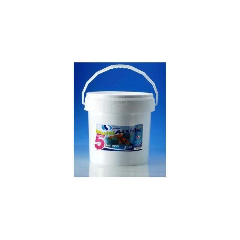 Cloro 5 acciones berkiclean for Cloro liquido para piscinas